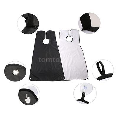 Beard Shaving Apron Gather Cloth Hair Dye Cape with Two Suction Cups R5N6