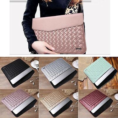 """Luxury PU Leather Sleeve Bag Case For MacBook Air Pro Retina 11"""" 12"""" 13"""" 15"""""""