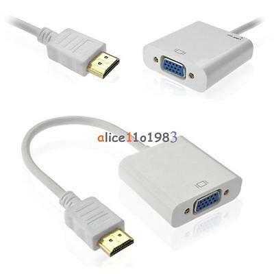 White 1080P HDMI Male to VGA Female Converter Adapter Cable for PC DVD HDTV