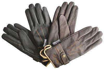 Mark Todd Winter Gloves Leather with Thinsulate BLACK or BROWN sizes XS upto XXL