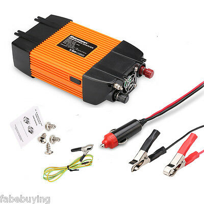 300W DC12V TO AC230V Car AC Power Inverter Adapter + USB Port Modified Sine Wave
