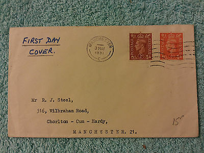 1951 KING GEORGE VI 2d & 1/2d DEFINITIVES FIRST DAY COVER - 3rd MAY 1951