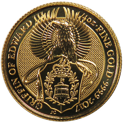 Daily Deal - 2017 U.K. 25 Pound 1/4 oz Gold Queen's Beast The Griffin Brilliant