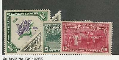 Costa Rica, Postage Stamp, #184 Mint, 186-188 Mint NH, 1937-38