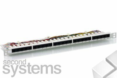 "25 Port 19"" Rackmount Patchpanel / CAT3 Patchfeld RJ45 Buchsen"