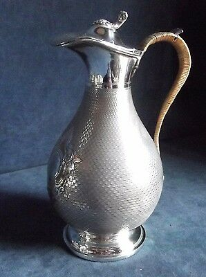GOOD Large ~ SILVER Plated ~ Victorian BULBOUS Water / WINE JUG ~ c1890