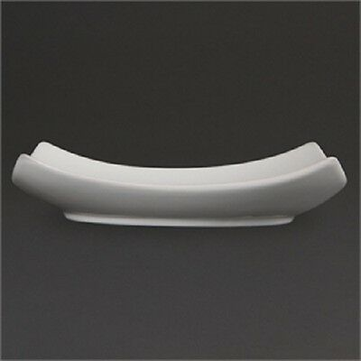 """24 x Olympia Whiteware Square Bowled Plates 165mm 6 1/2""""   White Catering  CB687"""
