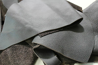 Real Leather pieces, brown dark brown, Cowhide, Craft leather f. Bag Bags