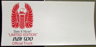1976 GMC Truck Dealer Sales Mailer Indy 500 Official Truck Limited Edition Rare