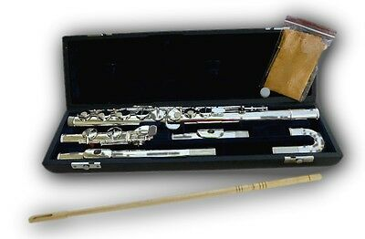 Alto Flute With Both Straight And Curved Heads