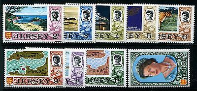 JERSEY SG# 17A-24A Thin Paper (9) Stamps