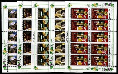 MOLDOVA Sc.# 432-36 Wine Stamp Sheets of 10