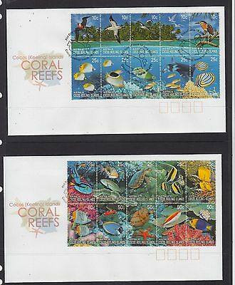 Cocos (Keeling) Isls: 2006 Coral Reefs set on 2 First Day Covers.Going cheap