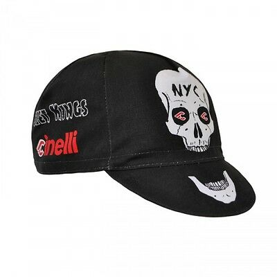 Cinelli Cap Collection:  Street Kings Cycling Cap in Black - Made in Italy