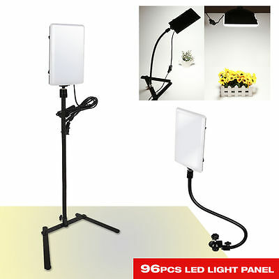 96 LED Gooseneck Photography Studio Video Light Panel Camera Photo Lighting