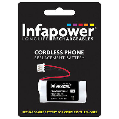 NEW! Infapower 600Mah 2.4V Aaa Ni-Mh Rechargeable Replacement Batteries