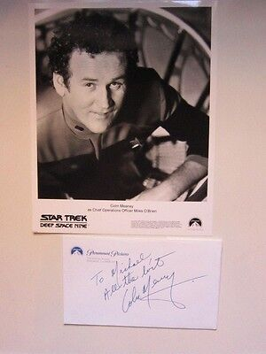 COLIN MEANEY   Note  Star Trek Deep Space Nine AUTOGRAPHED