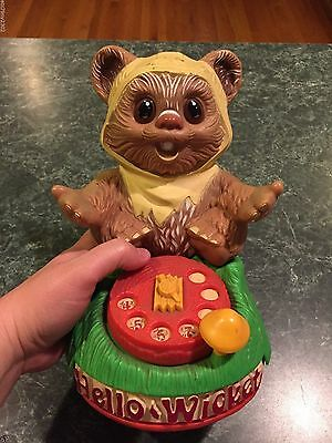 Vintage 1984 Star Wars Hello Wicket Ewoks Play Telephone *INCOMPLETE* For Parts