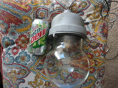 Vintage Crouse Hinds Explosion Proof Glass Light Globe VDB 3 Industrial Factory