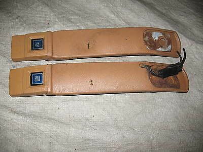 1978-81 Camaro Z28  Firebird Trans Am Tan Front Seat Belt Buckles