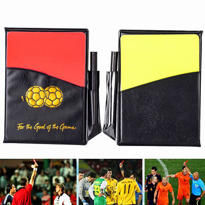 New Sport Football Soccer Referee Wallet Notebook & Red Card and Yellow Card