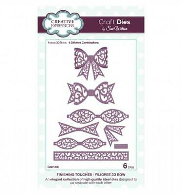 Creative Expressions Finishing Touches - Filigree 3D Bow CED1406 by Sue Wilson