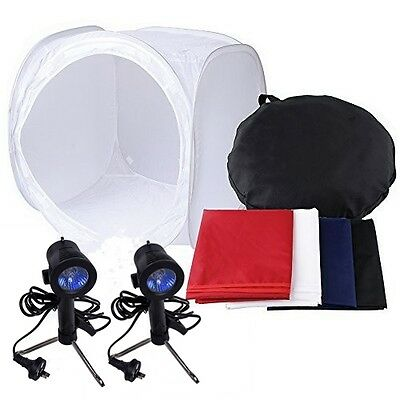 "24""60cm Photo Studio Soft Box Tent Light Cube Photography Softbox Lighting Kit"