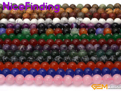 """Natural Gemstone Spacer Loose Stone Beads Lot For Jewelry Making 15"""" Stone Pick"""