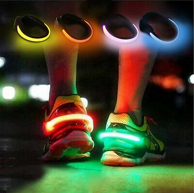 LED Luminous Shoes Clip Safety Light Warning Bike Running Sports Shoes Clamp