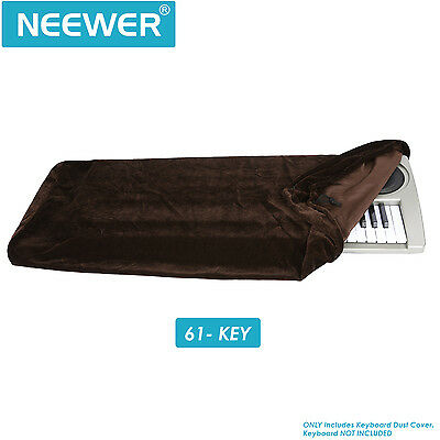 Neewer Brown Keyboard Dust Cover for 61 Key Keyboards