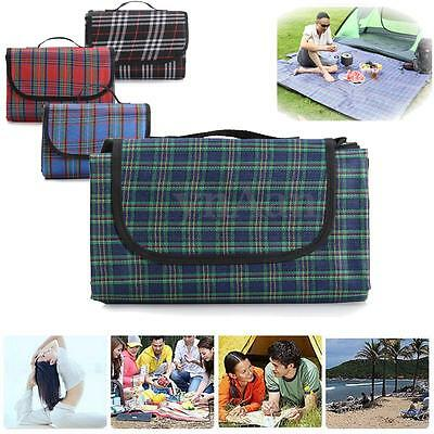 2mx2m Folding Large Waterproof Picnic Blanket Rug Travel Outdoor Beach Camping