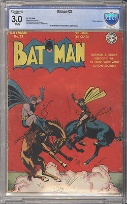 Batman # 21  First skinny Alfred !  CBCS 3.0 scarce Golden Age book !