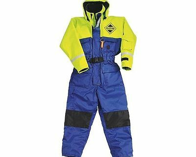 Fladen Flotation/Floatation Suit, 1 piece: All sizes - BLUE & YELLOW