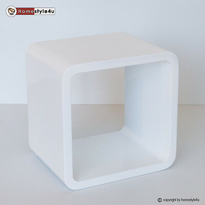 Cube Design Retro Wandregal CD Regal weiß Bücherregal Cubes Würfel