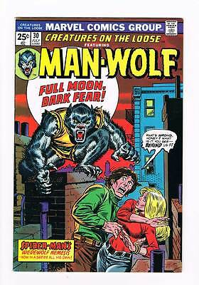 Creatures on the Loose # 30  1st app.Man-Wolf grade 7.5 scarce hot book !!