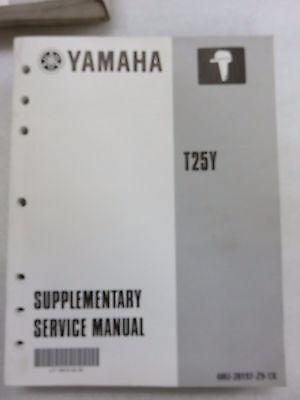 1999 Yamaha Outboard T25Y Service Repair Manual Supplement 68U-28197-Z9-1X
