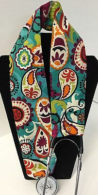Teal Paisley  MD RN EMT LPN Stethoscope Cover  Buy 3 GET FREE SHIPPING