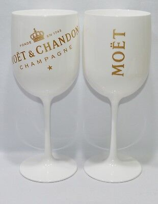 MOET & CHANDON CHAMPAGNE IMPERIAL ICE 2 Verres coupes flutes NEUF