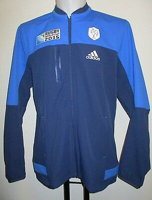 France Rugby Rwc 2015 Anthem Jacket By Adidas Adults Size Large Brand New