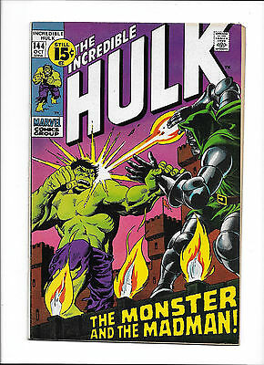 Incredible Hulk #144  [1971 Vg]  Dr.doom Cover!