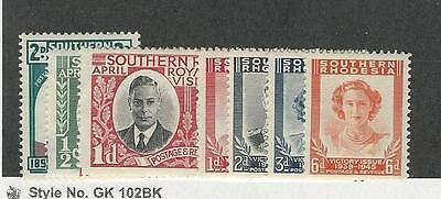 Southern Rhodesia, Postage Stamp, #64-70 Mint LH, 1943-47