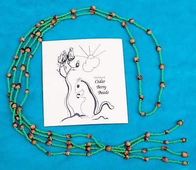"""Native American Navajo """"ghost Beads"""" Necklace Green"""