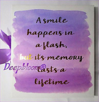 Photo Album Storage Holds 180 4 X 6 Photos - A Smile Happens In A Flash... New