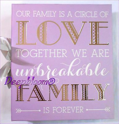 Photo Album Storage Holds 180 4 X 6 Photos - Our Family Circle Of Love... New