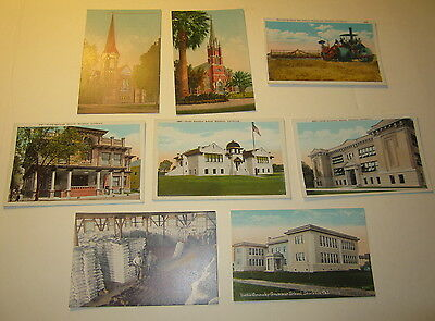 Lot of 8 Old Vintage 1910's-20's - STOCKTON - CALIFORNIA POSTCARDS
