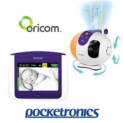 """Oricom Secure 870 3.5"""" Touch Screen Baby Monitor Camera Starry Lightshow SC870"""