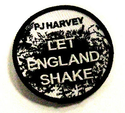 """P.J.Harvey Let England Shake Promotional Patch 3"""" round 2011 NEW"""