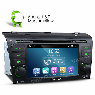 """In Dash Android 5.1 7"""" Car DVD GPS Player Stereo BT MP3 OBD2 For Mazda 3 04-09 G"""