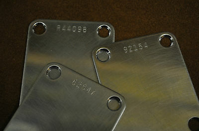 Aged, Relic NECK PLATE, NECKPLATE for FENDER w/ choice of a CUSTOM SERIAL NUMBER