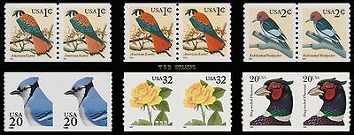 3044 3044a 3045 3053 3054 3055 Flora Fauna Pairs Set of 6 Complete MNH - Buy Now